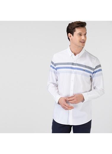 Lacoste Erkek Slim Fit Gömlek CH0143.43M Beyaz